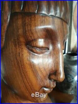 Buste femme Art Deco 1925 attribué Antoine Bourdelle en bois de rose