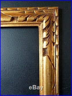 CADRE ANNEES 1920 1930 DORÉ 40 x 30 cm ART NOUVEAU ART DECO FRAME Ref C640
