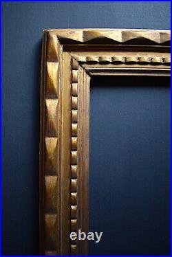CADRE ANNEES 1920 1940 ART DÉCO DORÉ 55 x 46 cm 10F FRAME Ref C875
