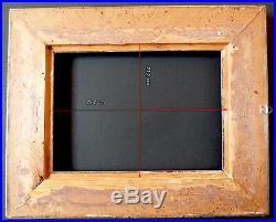 CADRE ANNEES 1930 1940 ART DECO ARGENTÉ 29 x 21 cm proche de 3P FRAME Ref 680