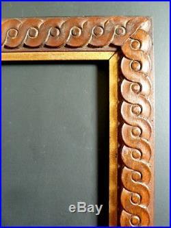 CADRE BOIS SCULPTÉ STYLE ART DECO ORIENTALISTE 48 X 37 cm FRAME Ref C472