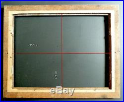 CADRE BOIS SCULPTÉ STYLE ART DECO ORIENTALISTE 48 X 37 cm FRAME Ref C473
