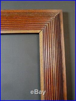 CADRE DEGAS 1900 BOIS MASSIF SCULPTÉ ART DÉCO 55 x 46 cm 10F FRAME Ref C706