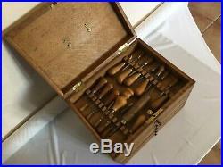 #COFFRET OUTIL ANCIEN 75 gouges ciseaux à bois menuisier old tool of wood turner