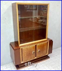 Cabinet Verrerie Art Deco En Bois De Rose Et Racine Briar Epoche 1940