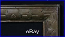 Cadre Art Deco en bois doré vue 19 x 24 cm ext 34 x 39 cm circa 1930's