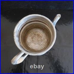 Cafetière aluminium bois SFMO 1,5 L France Art Déco Design vintage XXe N3258