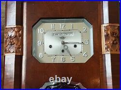 Carillon Calendrier Westminster Girod 8 tiges 8 marteaux Ancien Horlogerie rare