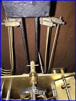 Carillon Horloge Paris 8 Marteaux 8 Tiges 2 Mélodies Bois Doré Art-Deco ODO