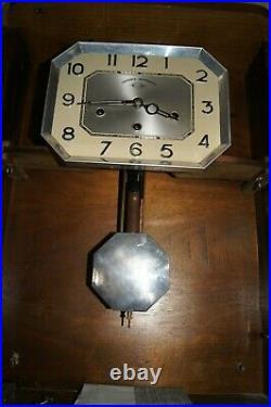 Carillon WEISTMINSTER en état de marche bois et verre ciselé