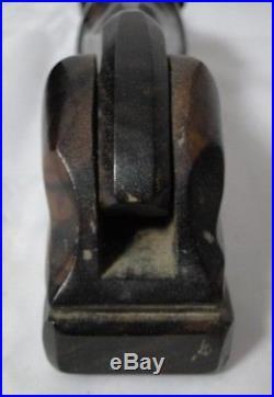 Casse Noisettes En Ebene De Macassar A Decor De Chien Yeux Sulfure 1930 B1449