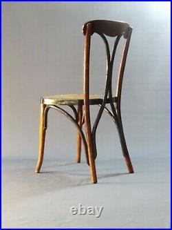 Chaise Bistrot de KOHN vers 1915 bicolore assise bois rare modèle (no Thonet)