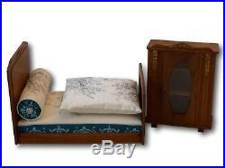 Chambre poupée art deco 1920 lit + armoire