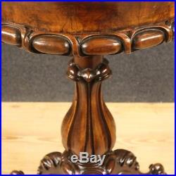 Chevet meuble table de travail salon français en bois noyer style ancien 900