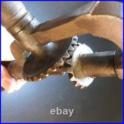 Chignole vilebrequin perceuse à main outil vintage 1940 Art Déco France N6813