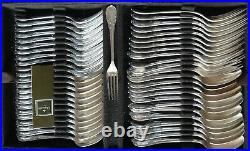 @@ Christofle Marly Menagere Complete 155 Pieces Metal Argente Coffre Bois Tbe