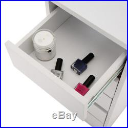 Coiffeuse Table de Maquillage Miroir Commode Chambre Vanité Meuble Cassette