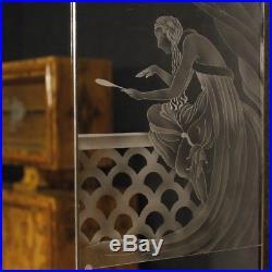 Commode Art Deco Miroir Meuble Miroir Italien Bois Style Ancien Vintage
