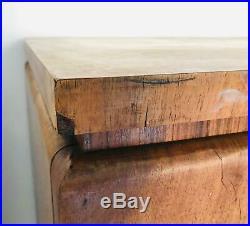 Commode Art Déco en bois design années 30 vintage moderne du milieu du siècle
