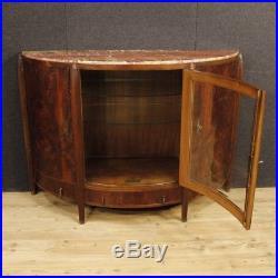 Commode buffet Art Déco meuble vitrine en bois acajou marbre style ancien 900 XX