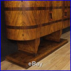 Commode style ancien vintage Art Deco meuble miroir buffet italien bois