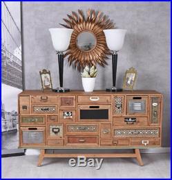 Console Art Déco Commode Loft Studio Buffet Industriel Schubldenschrank