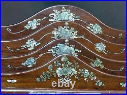 D 19ème élégant porte-lettres art Japon bois incrustation nacre 30cm1.5kg déco