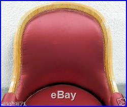 Daprès André Arbus, 1903-1969 muséale paire de fauteuils gondole en bois clair