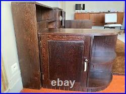 Daybed, Cosy Corner ou Canapé, Art deco en bois de palmier 1930