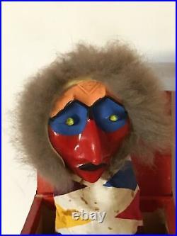 Diable en Boite Diable à Ressort Boite surprise Jouet ancien 1930s