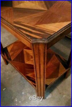 Eugene Printz Table Appoint Desserte Marqueterie Cubiste Art Deco 1930