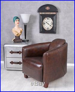Fauteuil DE Club Art déco sofa lounge Cuir Véritable cocktail en