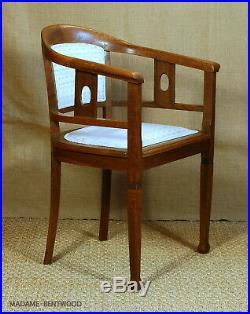 Fauteuil bois vintage style bistrot viennois, art déco, no thonet