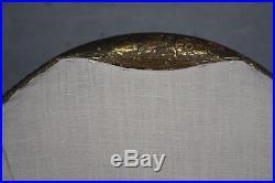 Fauteuil crapaud en bois doré 1925 dans le goût de Sue et Mare