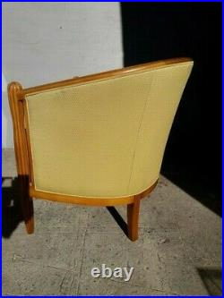 Fauteuil gondole st art deco 1930 en bois de hetre mouluré