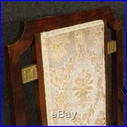 Fauteuils franais couple chaise Art Deco meubles salon bois acajou d'or 900