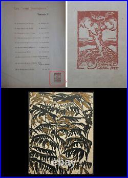 Fernand SIMEON Edgar Allan POE Bois Original tiré à 50 ex F. L. SCHMIED 1918