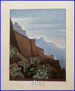 Francois-louis Schmied (1873-1941) Rare Bois Grave Et Couleurs Art Deco (2)