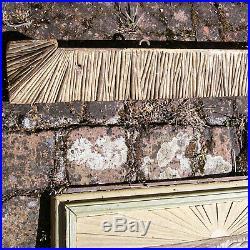 Fronton Panneau Bois Sculpte Peinte Doré Moisson De Blé Wheat Harvest Panel