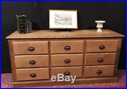 grand meuble de mtier 9 tiroirs bois ancien grainetier enfilade buffet tv bas