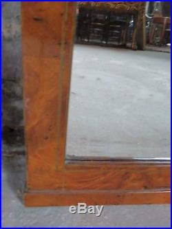 Glace / miroir Art Déco 1920/1930 en loupe d'orme