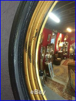 Glace / miroir rond dit oeil de sorcière de style Napoléon III Diam 65 cm