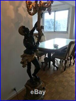 Grand NUBIEN électrifie en bois sculpté style vénitien