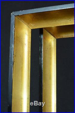 Grand cadre Bois doré Laque Noire époque art déco dessin gravure tableau X2