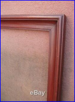 Grand cadre en sapin mouluré d'époque et de style Art Déco Format 12F