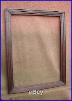 Grand cadre en sapin mouluré d'époque et de style Art Déco Format 15P environ