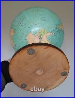 Grand globe mappemonde colombus Paul Oestergaard berlin vers 1920