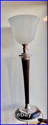 Grande Lampe Vintage Mazda Bureau Art Déco. 1920 / 1930