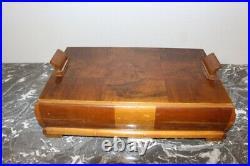 Grande boite en bois art déco