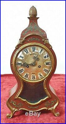 Horloge De Bureau. Schmid Sss Marke Fabrik. Style Luis XV Circa 1960